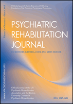 Psychiatric Rehabilitation Journal 2014 Volume 37, Issue 3 (Sep)